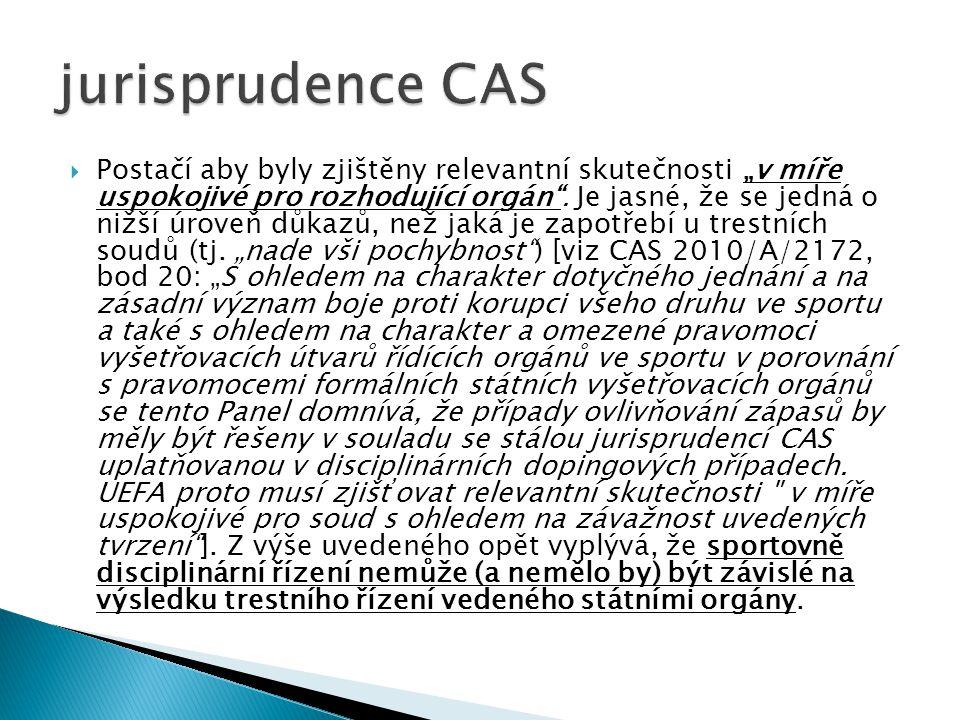 jurisprudence CAS