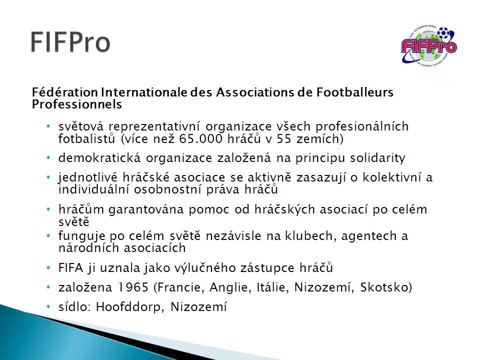 FIFPro Fédération Internationale des Associations de Footballeurs Professionnels.