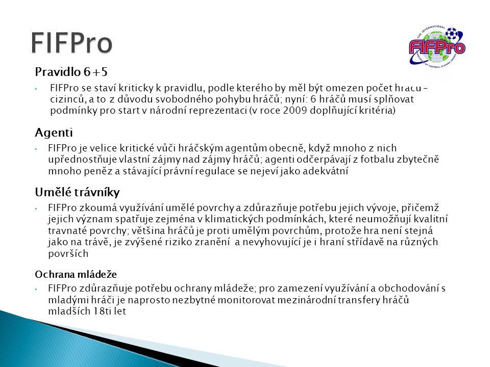 FIFPro Pravidlo 6+5 Agenti Umělé trávníky