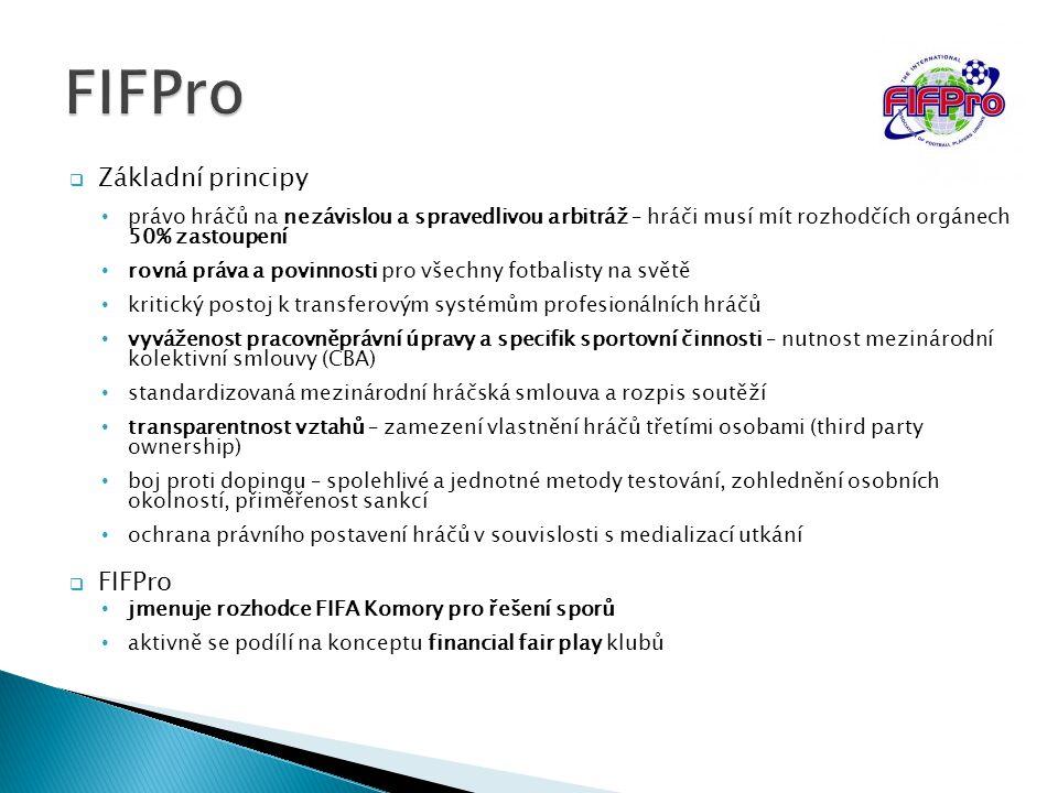 FIFPro Základní principy FIFPro
