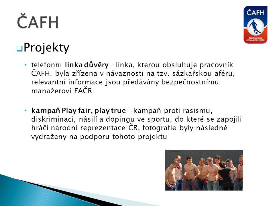 ČAFH Projekty.