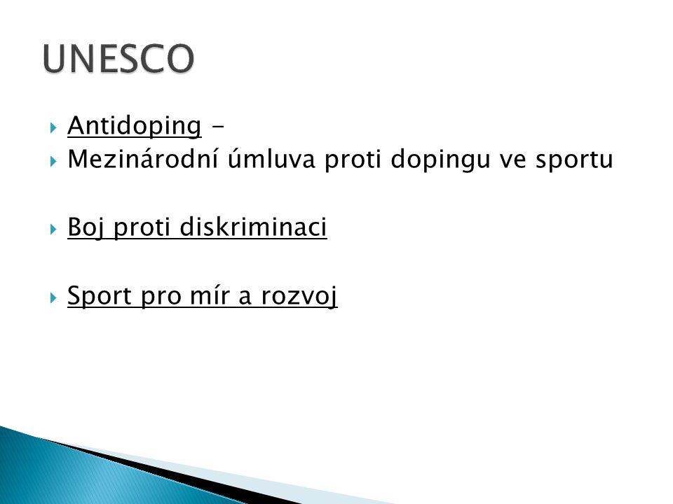 UNESCO Antidoping - Mezinárodní úmluva proti dopingu ve sportu