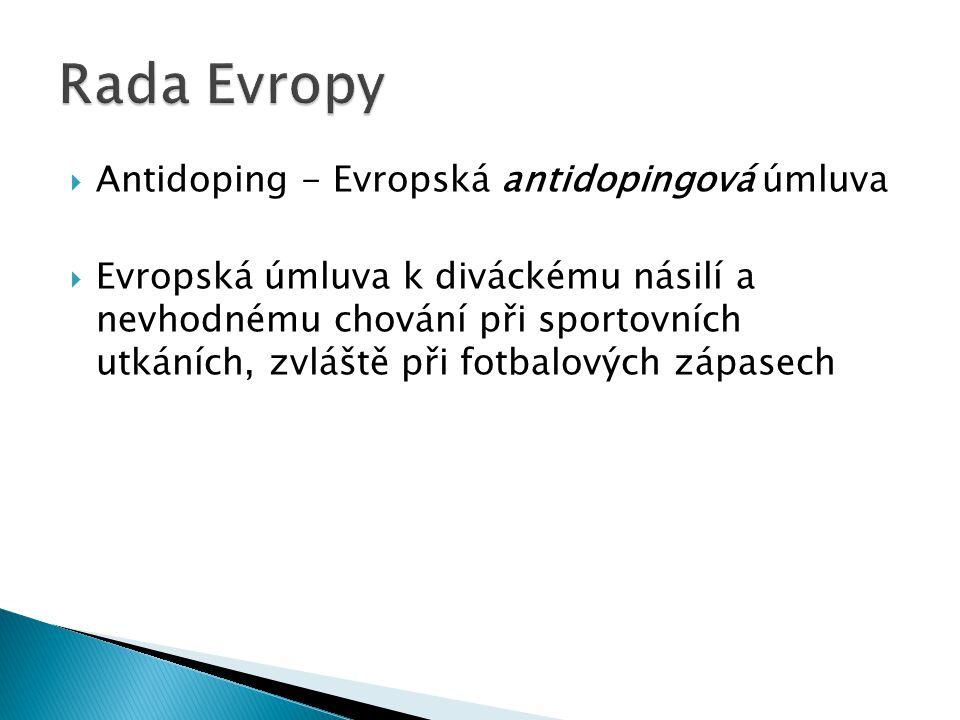 Rada Evropy Antidoping - Evropská antidopingová úmluva