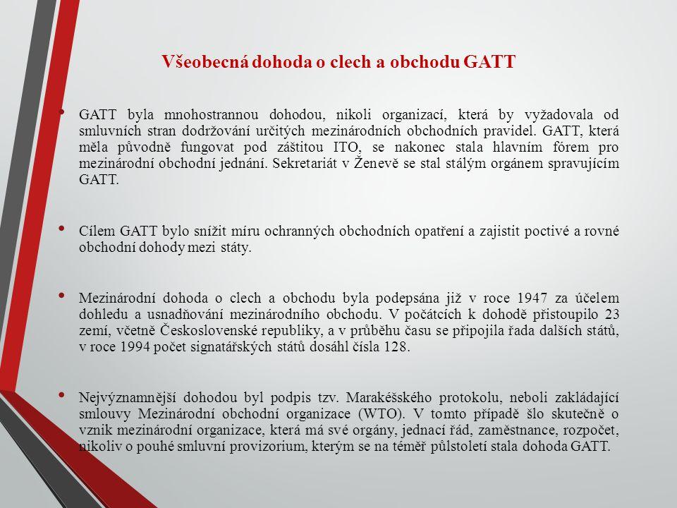 Všeobecná dohoda o clech a obchodu GATT