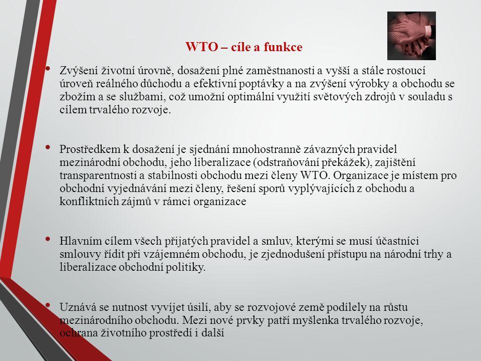 WTO – cíle a funkce