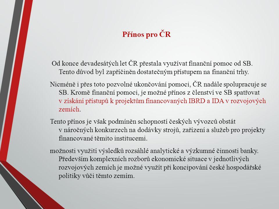 Přínos pro ČR