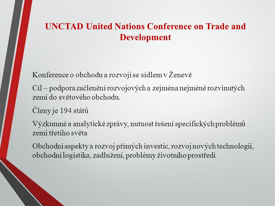 UNCTAD United Nations Conference on Trade and Development