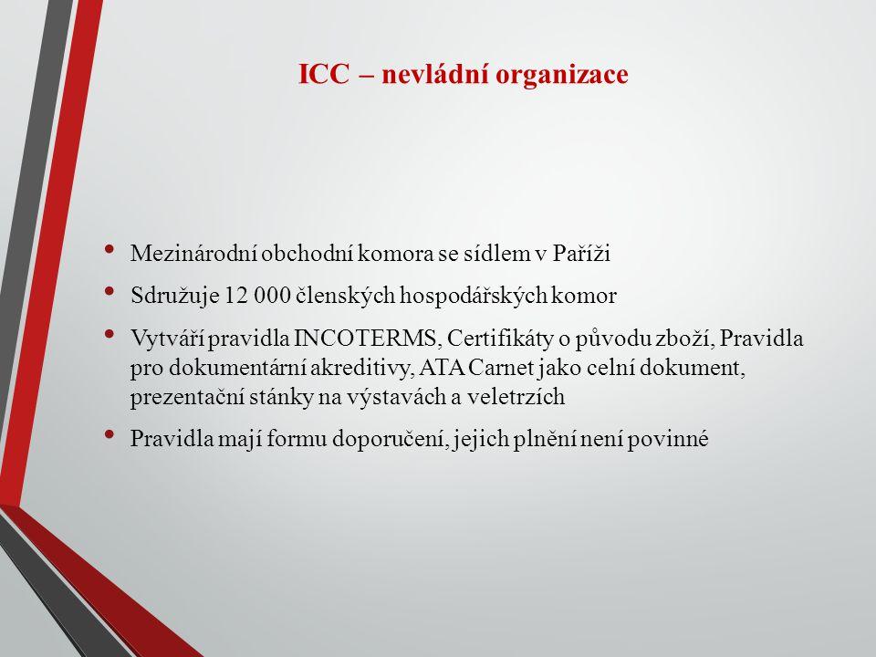 ICC – nevládní organizace