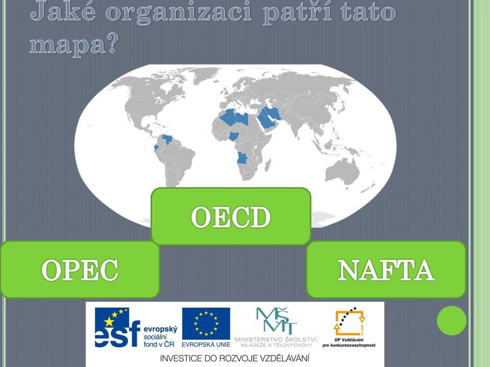 Jaké organizaci patří tato mapa