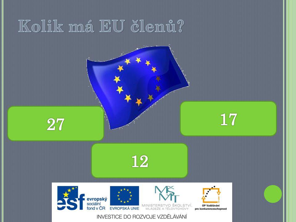 Kolik má EU členů 17 27 12