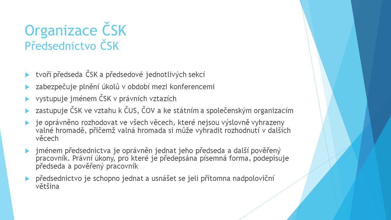 Organizace ČSK Předsednictvo ČSK