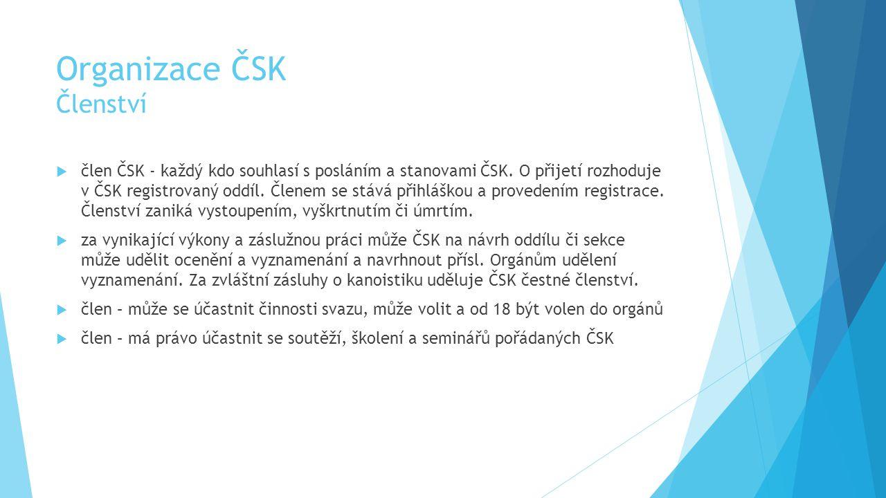 Organizace ČSK Členství