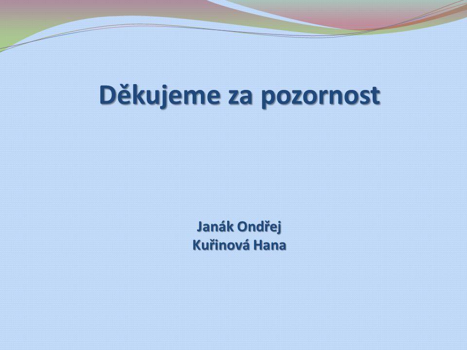 Děkujeme za pozornost Janák Ondřej Kuřinová Hana