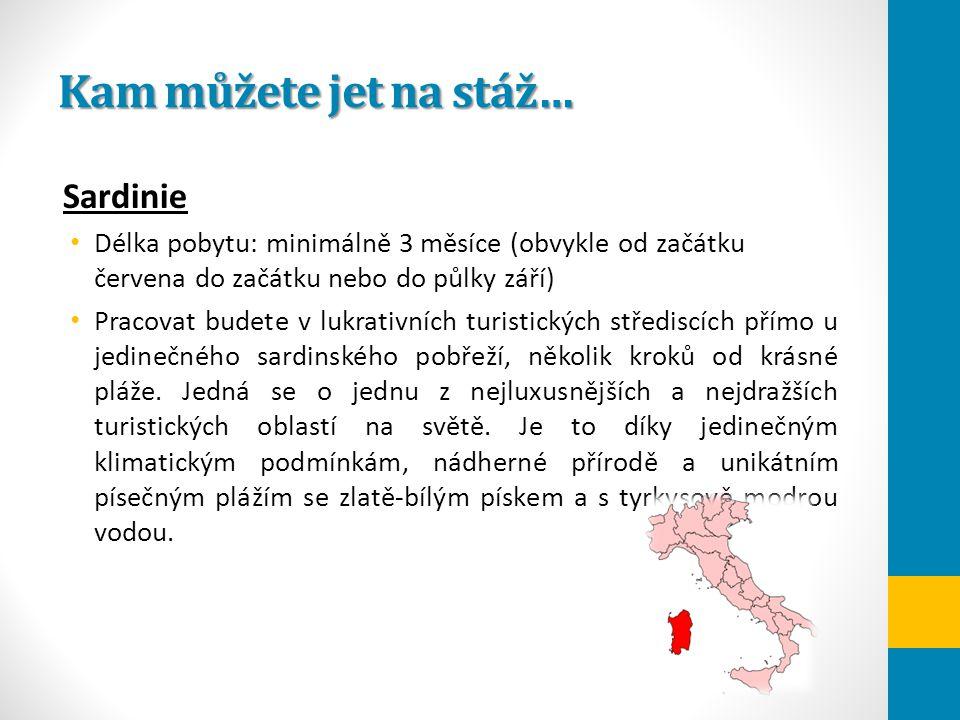 Kam můžete jet na stáž… Sardinie