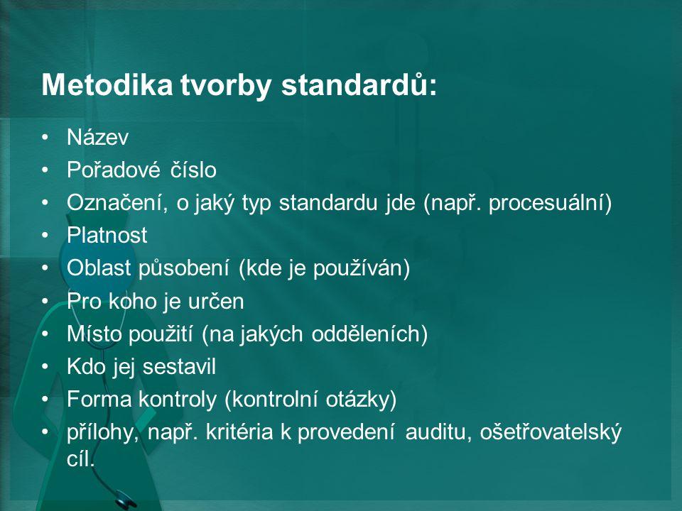 Metodika tvorby standardů: