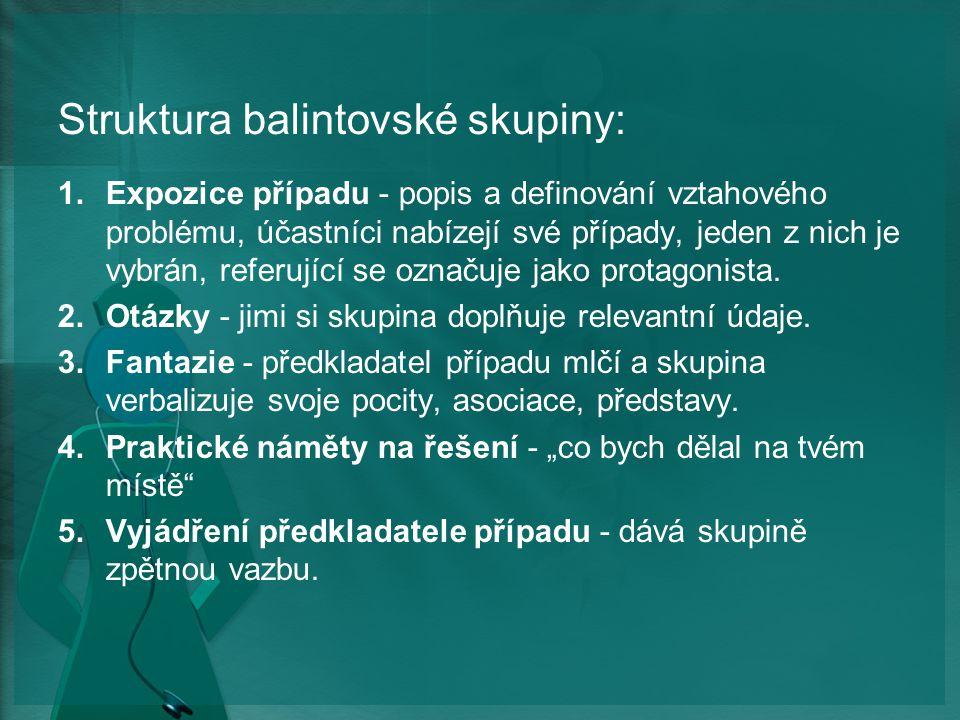 Struktura balintovské skupiny: