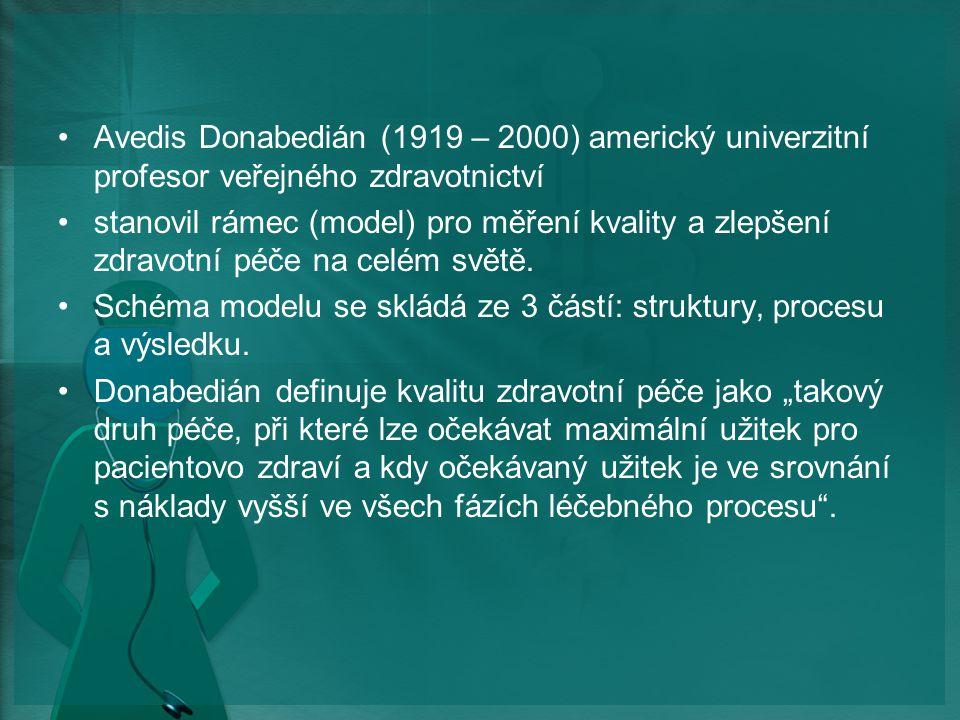 Avedis Donabedián (1919 – 2000) americký univerzitní profesor veřejného zdravotnictví
