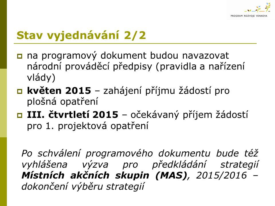 18.11.2014 Stav vyjednávání 2/2. 17. zasedání MV PRV. na programový dokument budou navazovat národní prováděcí předpisy (pravidla a nařízení vlády)