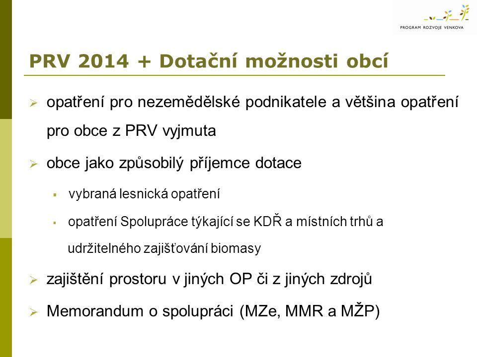 PRV 2014 + Dotační možnosti obcí