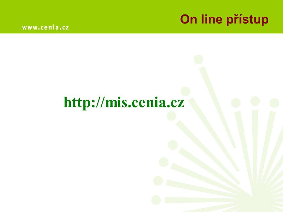 On line přístup http://mis.cenia.cz