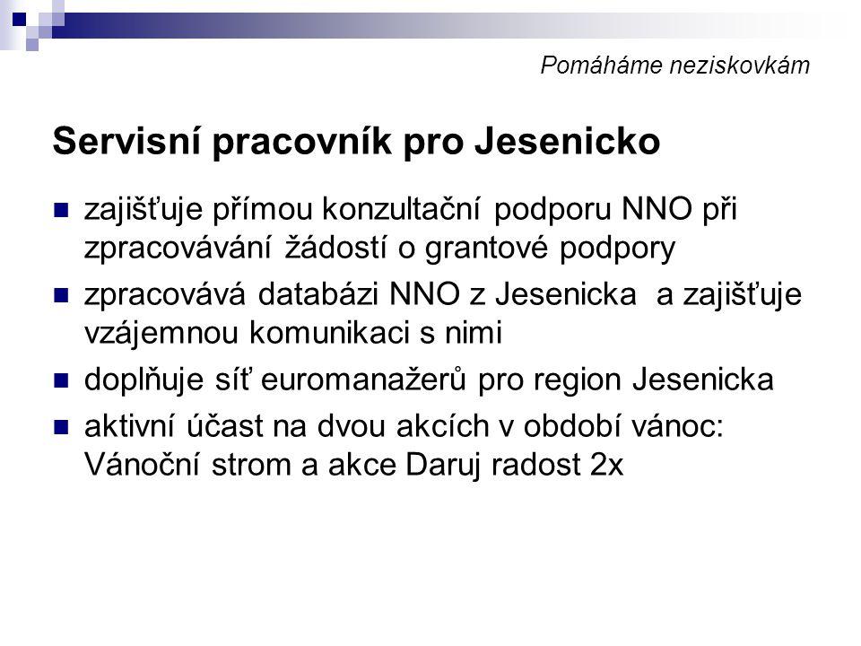 Servisní pracovník pro Jesenicko