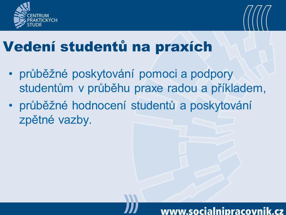 Vedení studentů na praxích
