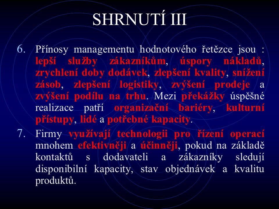 SHRNUTÍ III