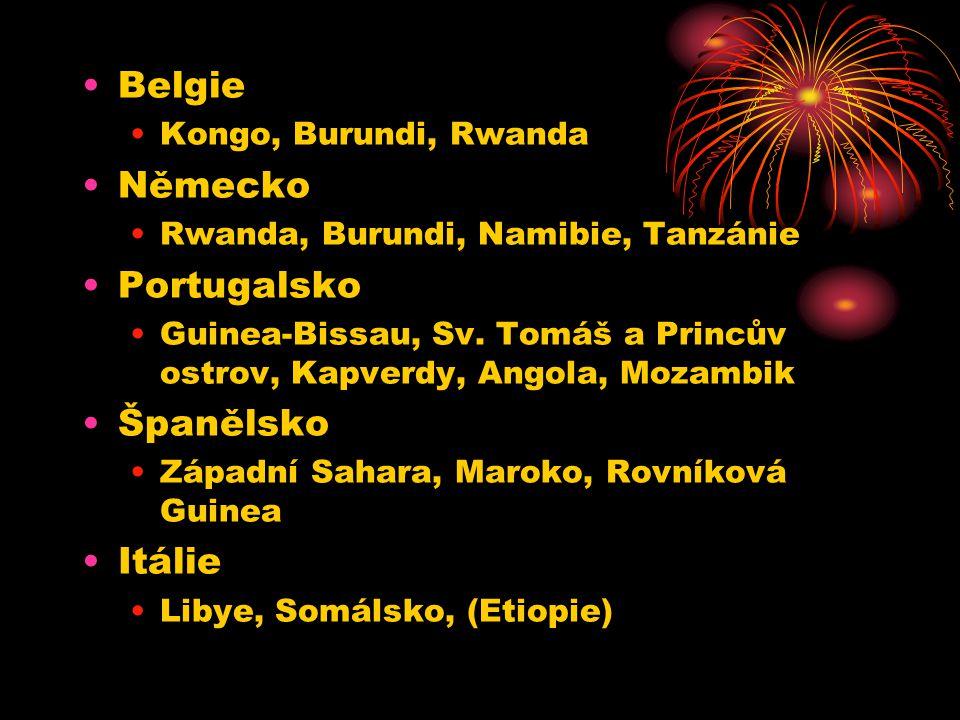 Belgie Německo Portugalsko Španělsko Itálie Kongo, Burundi, Rwanda