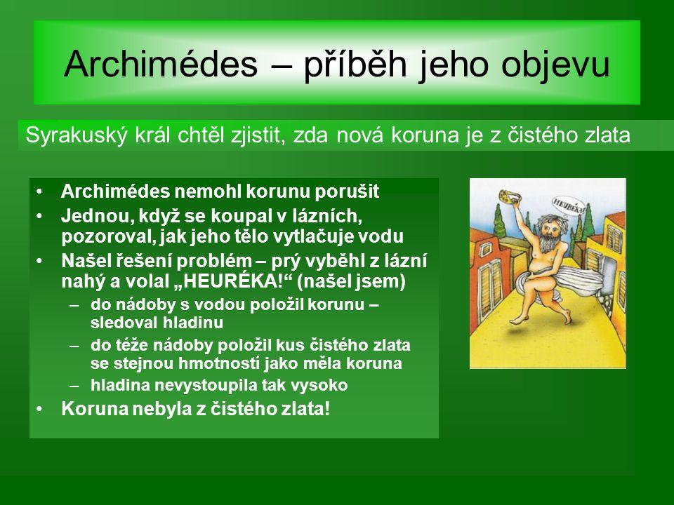Archimédes – příběh jeho objevu