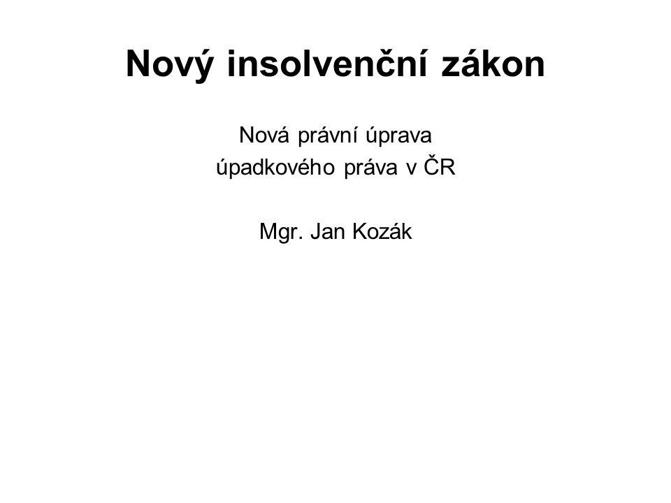 Nový insolvenční zákon