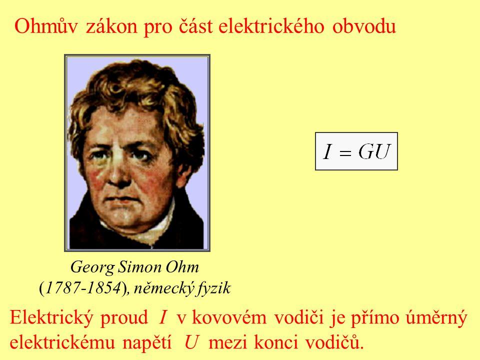 Ohmův zákon pro část elektrického obvodu