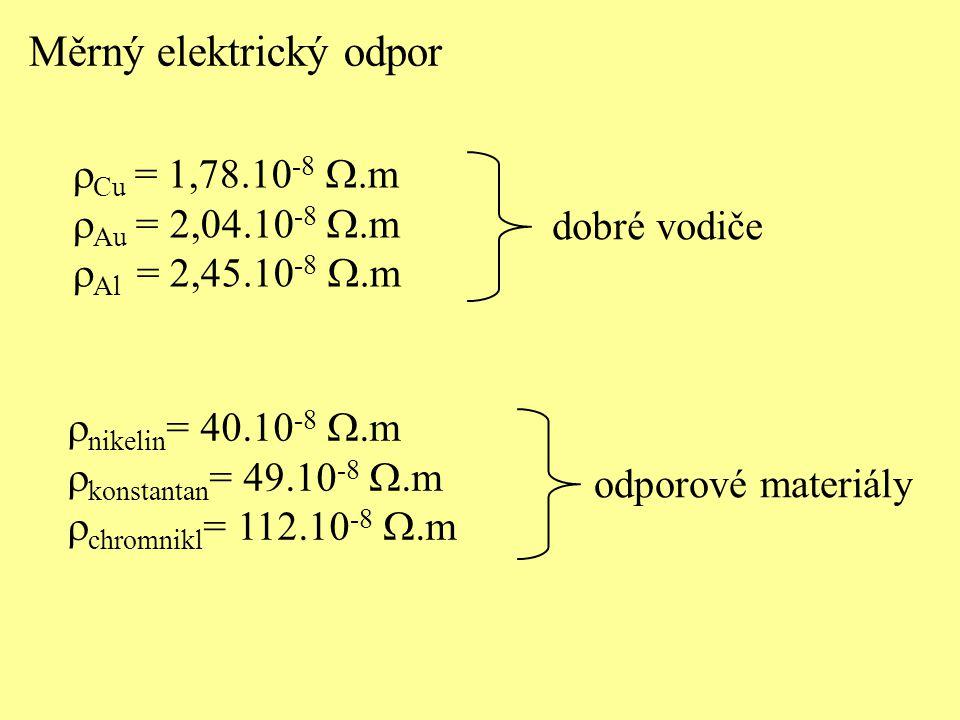 Měrný elektrický odpor