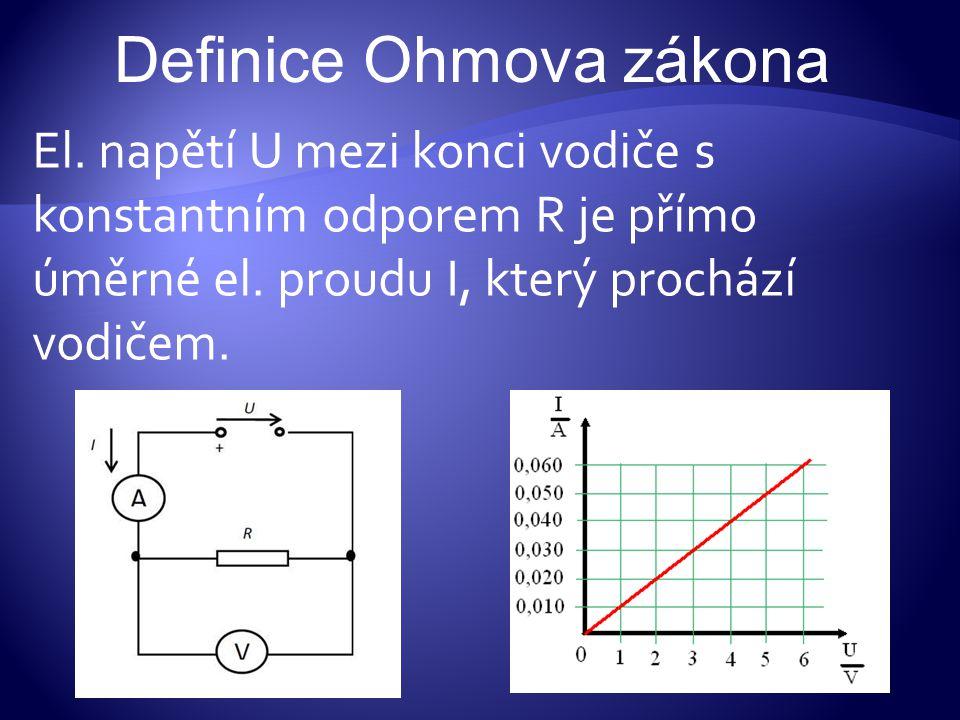 Definice Ohmova zákona