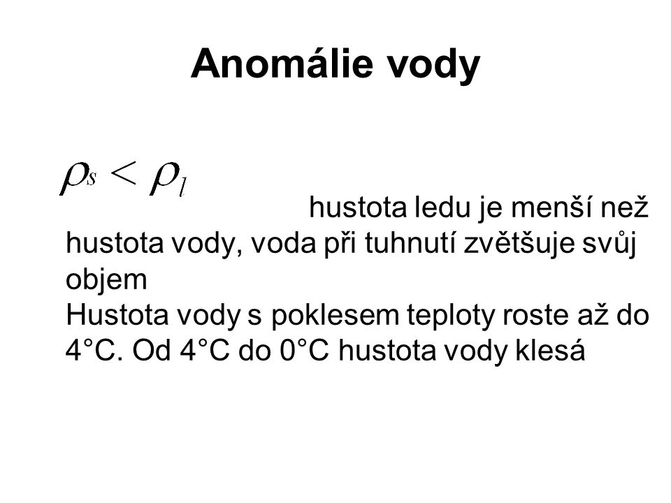 Anomálie vody