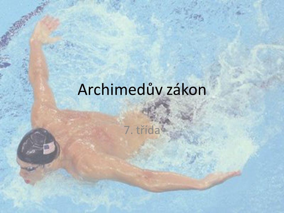 Archimedův zákon 7. třída