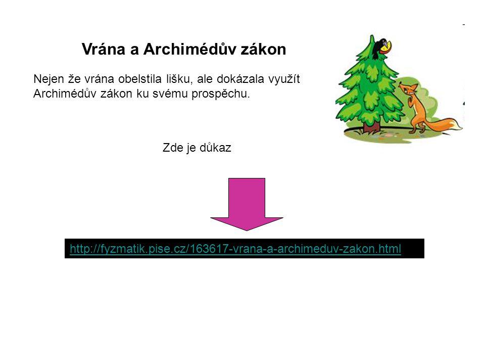 Vrána a Archimédův zákon