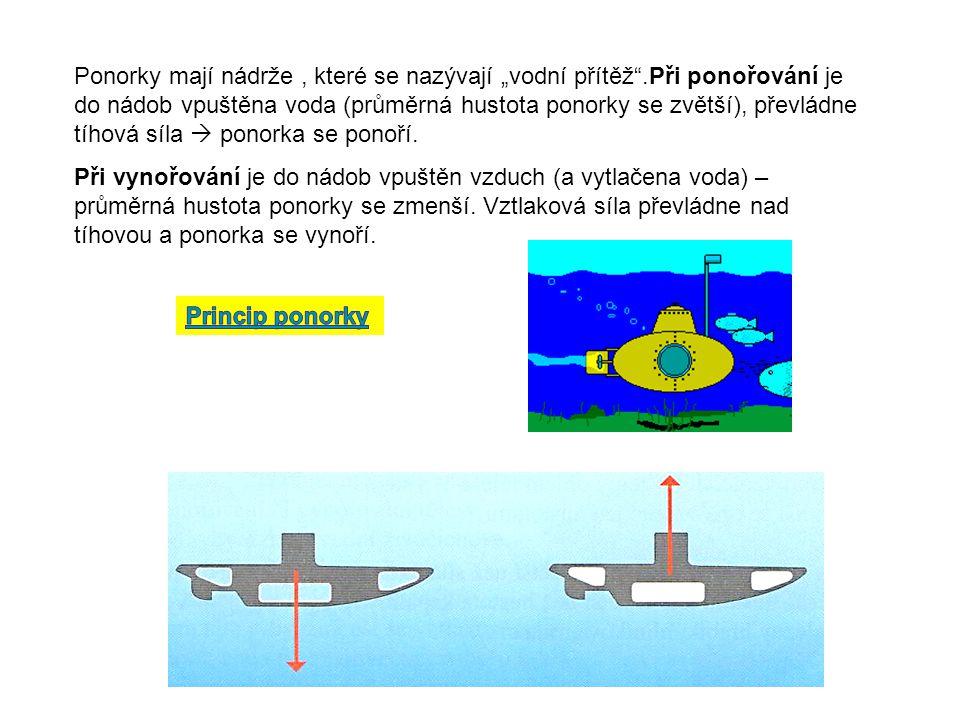 """Ponorky mají nádrže , které se nazývají """"vodní přítěž"""