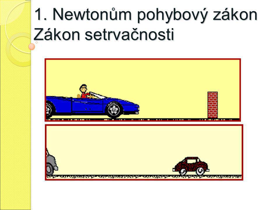 1. Newtonům pohybový zákon Zákon setrvačnosti