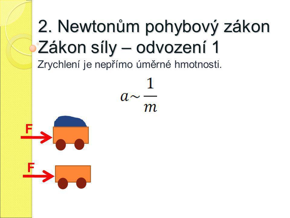 2. Newtonům pohybový zákon Zákon síly – odvození 1