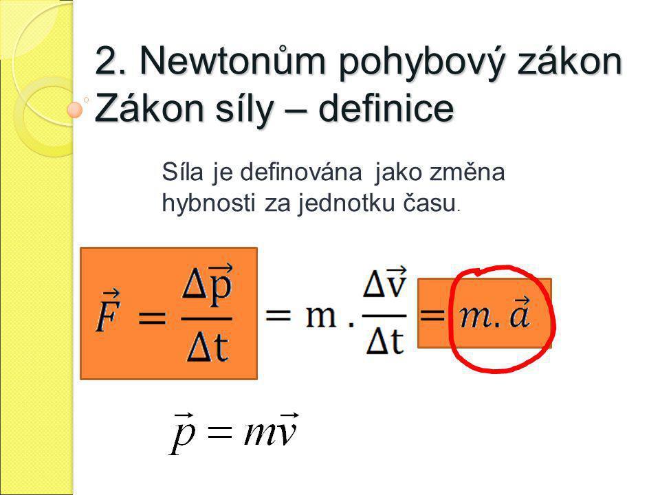 2. Newtonům pohybový zákon Zákon síly – definice
