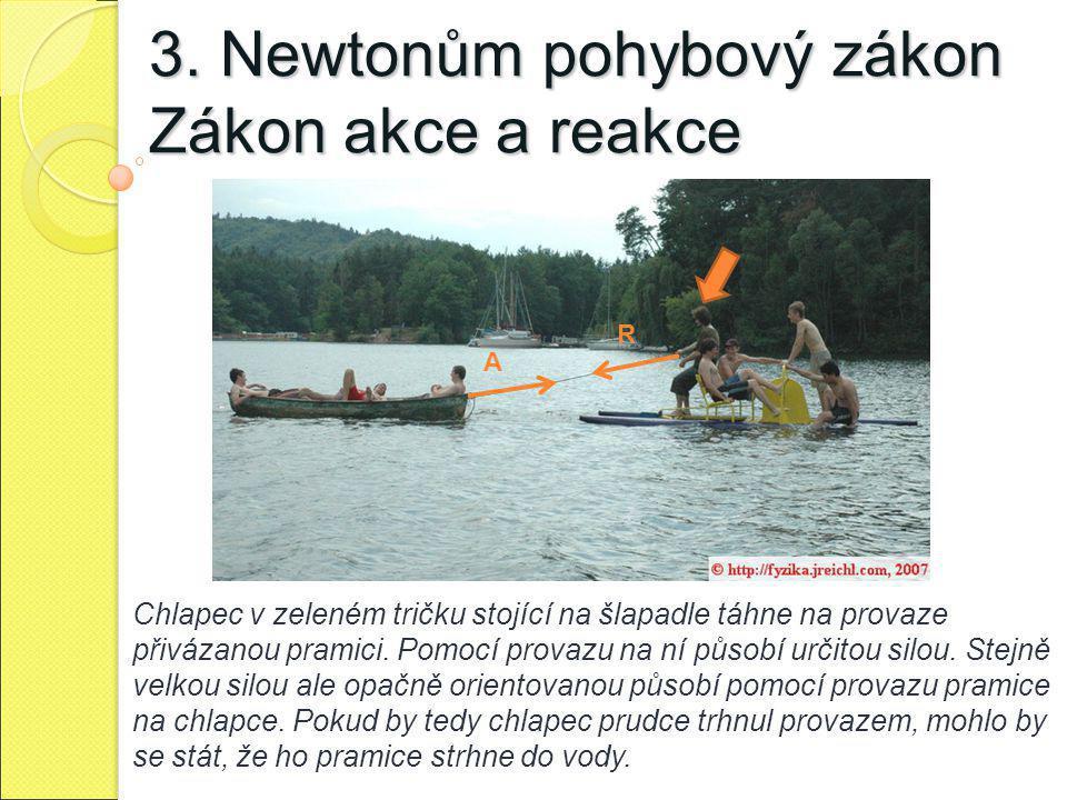 3. Newtonům pohybový zákon Zákon akce a reakce