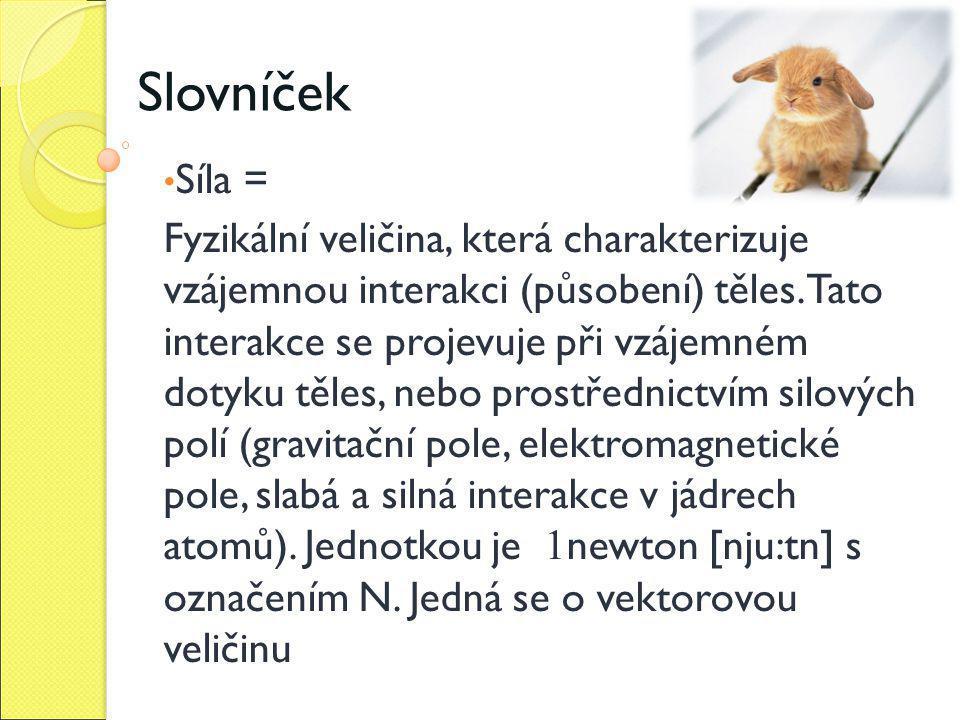 Slovníček Síla =