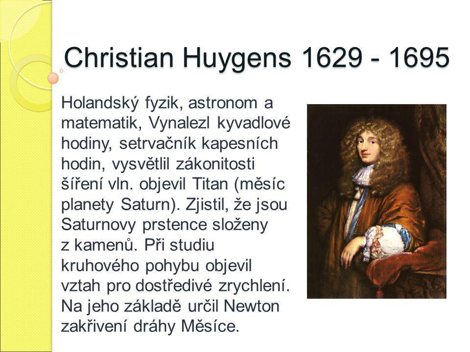 Christian Huygens 1629 - 1695