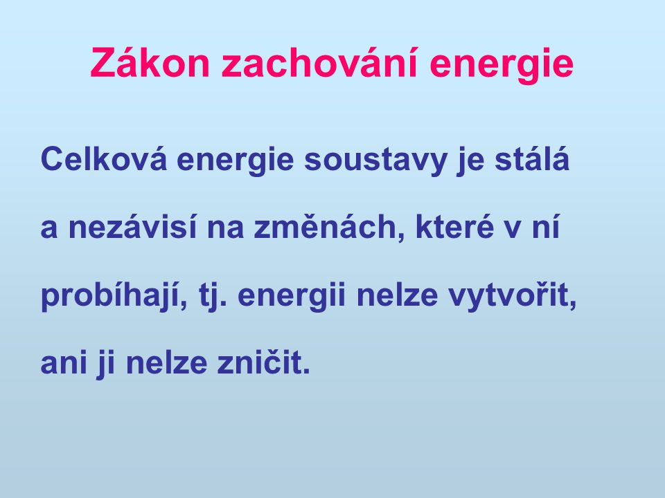 Zákon zachování energie