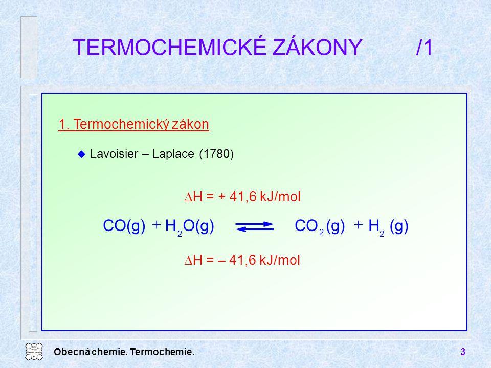 TERMOCHEMICKÉ ZÁKONY /1