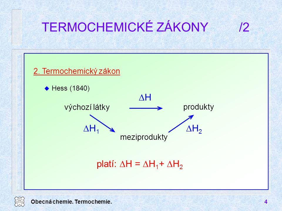 TERMOCHEMICKÉ ZÁKONY /2