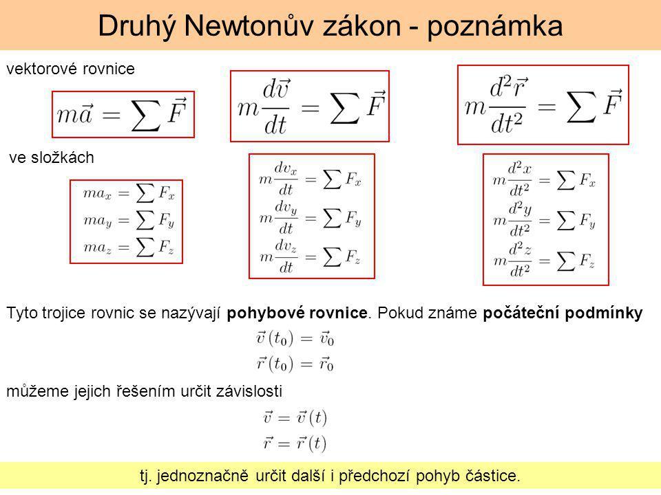 Druhý Newtonův zákon - poznámka