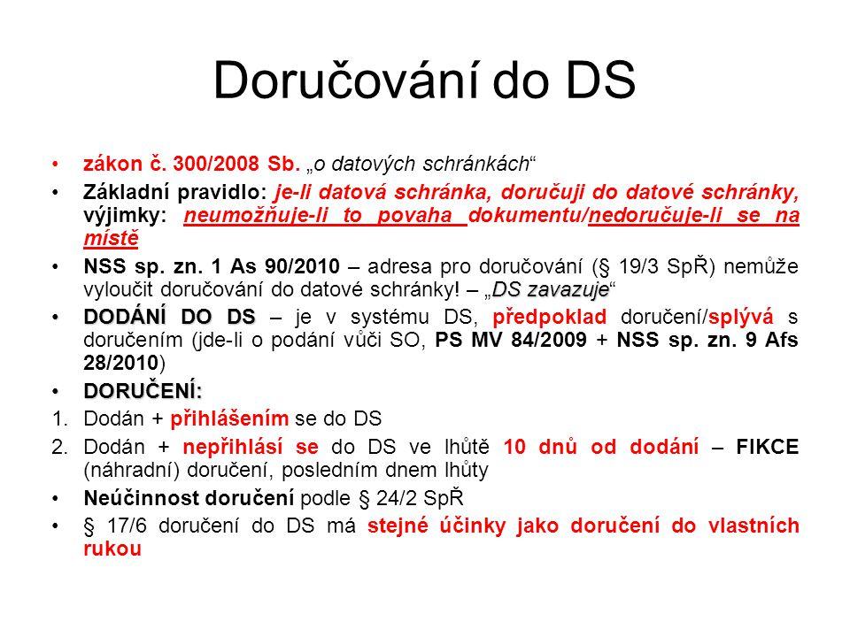 """Doručování do DS zákon č. 300/2008 Sb. """"o datových schránkách"""