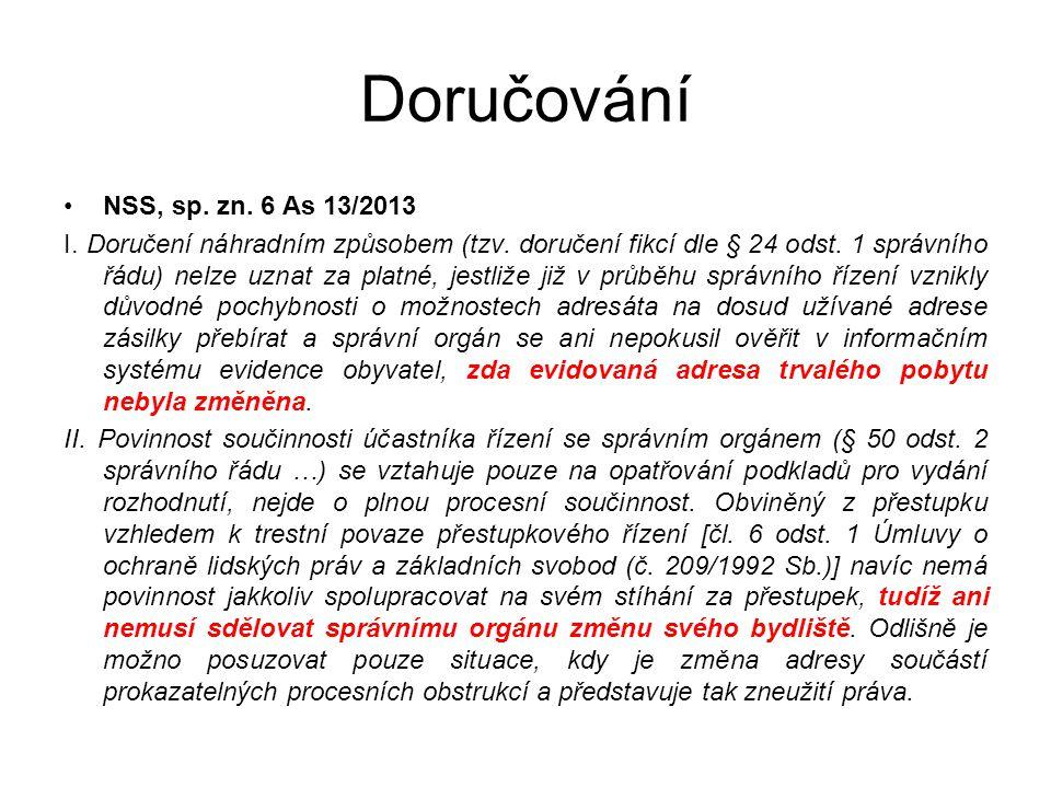 Doručování NSS, sp. zn. 6 As 13/2013