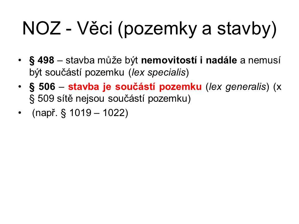 NOZ - Věci (pozemky a stavby)
